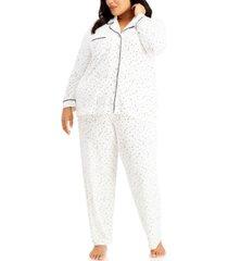 alfani plus size ultra-soft pajama set, created for macy's