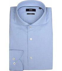 hugo boss overhemd jemerson blauw sf 50410073/423