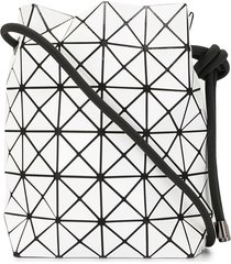 bao bao issey miyake geometric patterned drawstring bag - white