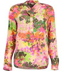 floral print eva silk shirt