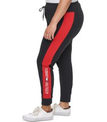tommy hilfiger sport plus size high-rise logo leggings