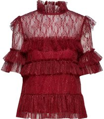 rachel blouse blouses short-sleeved rood by malina