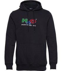 absalon hooded sweat hoodie trui blauw h2o