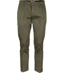 dondup casual trousers alfredo military green