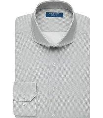 cole haan men's grand.øs black micro dot slim fit dress shirt - size: 18 1/2 34/35