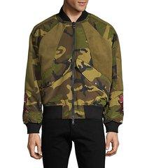 animal-patch bomber jacket