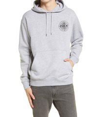 men's volcom obx pope compass hoodie, size xx-large - grey