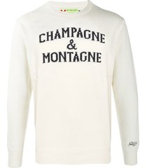 champagne & montagne off-white mans sweater