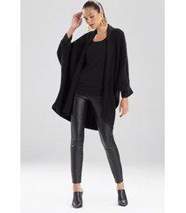 natori texture knit cocoon cardigan top, women's, size s/m