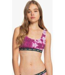 quiksilver womens the rib bikini top