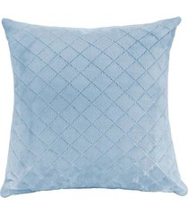 almofada hedrons 45x45cm plush azul celeste