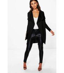 petite wikkel duster jas, zwart