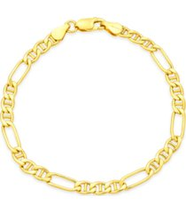 giani bernini figaro chain bracelet in 18k gold-plated sterling silver, created for macy's