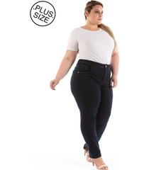 calça jeans plus size - confidencial extra tradicional reta
