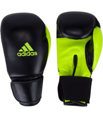luvas de boxe adidas power 100 smu colors - 10 oz - adulto - preto/amarelo fluor