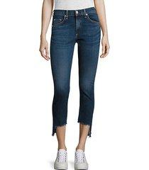 capri mid-rise step hem skinny jeans