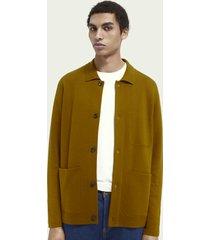 scotch & soda knitted wool-blend worker jacket