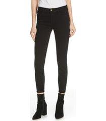 frame le color ankle jeans, size 30 in film noir at nordstrom