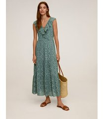 lange opengewerkte jurk
