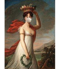 lady in a mask - dekoracja ścienna