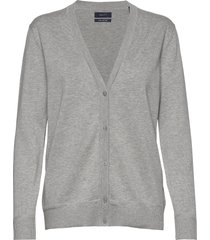 light cotton vneck cardigan gebreide trui cardigan grijs gant