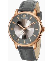 orologio automatico maschile atlantis edizione limitata, cinturino in pelle, grigio, pvd tonalitã oro rosa