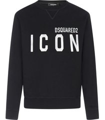 dsquared2 icon reflective cotton sweatshirt