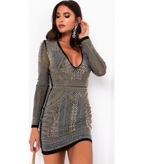 akira never enough all over rhinestone dress