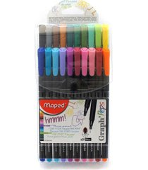 maped fineliners fine liners assorted colours fine point art pen - wallet of 20