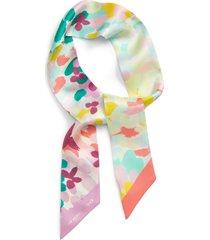 women's kate spade new york painted petals silk skinny scarf