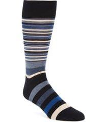 men's cole haan town stripe crew socks, size one size - blue