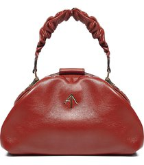 manu atelier ruched demi xx leather bag