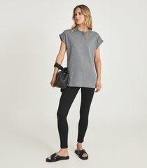 reiss anna - ponte jersey leggings in black, womens, size l