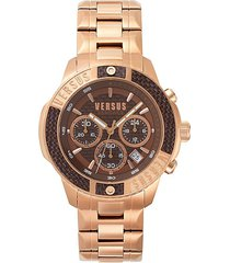 admirality ip rosegold stainless steel chronograph watch