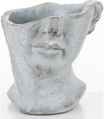 doniczka osłonka lady face głowa