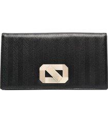 missoni oversized leather clutch bag - black