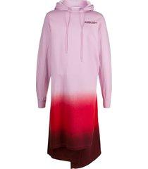 ambush gradient long hoodie - pink