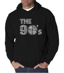 la pop art men's word art hoodie - the 90's