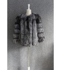 silver fox fur jacket winter coat wedding stole fur shawl fur poncho fur outwear