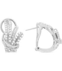 wrapped in love diamond fancy hoop earrings (1 ct. t.w.) in sterling silver, created for macy's