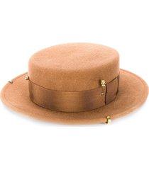 ruslan baginskiy flat peak hat - brown