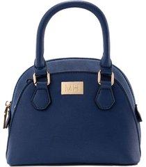 bolso de mano media luna azul maryrose
