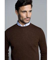 sweter albern półgolf brąz