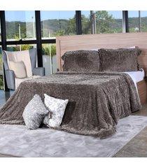 cobertor slim peles king com porta travesseiro grime - tessi - estampado - dafiti