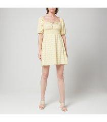 faithfull the brand women's mariette mini dress - dahlee floral print - l