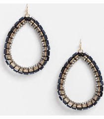 maurices womens black beaded teardrop earrings