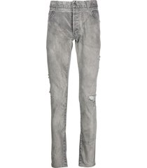 grey destroyed denim jeans