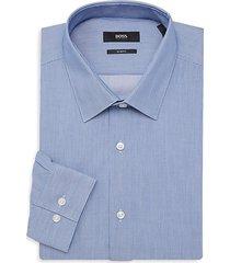 isko striped slim-fit dress shirt