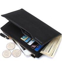 11 portafogli portafoglio casuale del sacchetto della moneta della chiusura lampo del cuoio dell'unità di elaborazione dell'annata per gli uomini