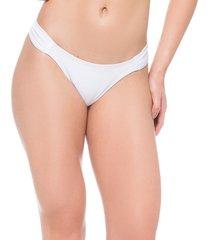 calcinha drapeada frente e costas iguais branco essencial ana hickmann - multicolorido - feminino - dafiti